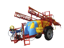 Trailed field sprayers with hydraulic boom